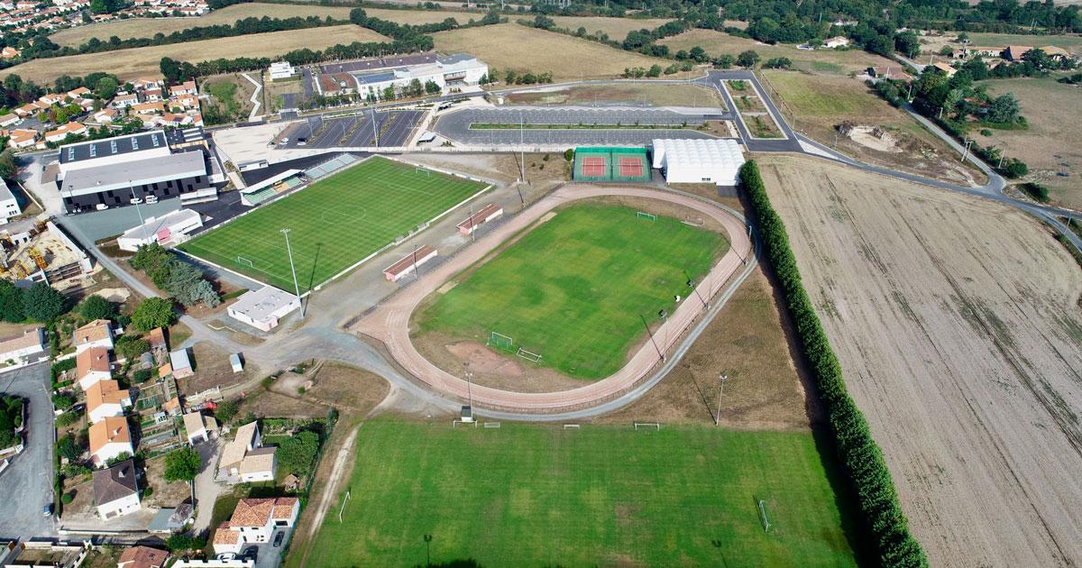 Image : vue aérienne - Pôle Maxime Bossis - Terres de Montaigu