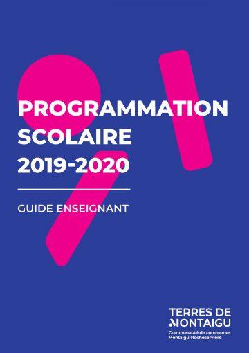 Image : couverture - Guide enseignant - Programmation scolaire 2019-2020 - Terres de Montaigu