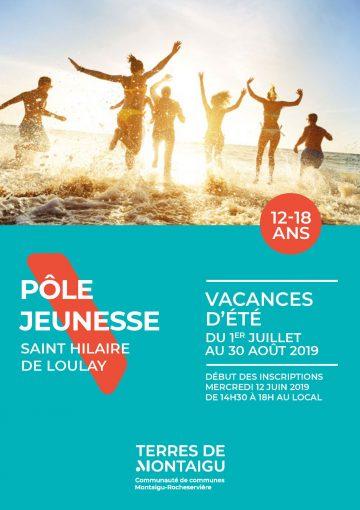 Visuel : couverture - Programme vacances - Été 2019 - Pôle Jeunesse - Montaigu-Vendée - Terres de Montaigu