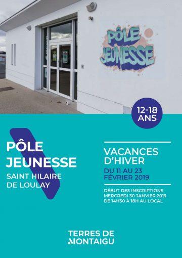 Visuel : couverture - Programme Vacances Hiver 2019 - Pôle Jeunesse - Saint-Hilaire-de-Loulay - Montaigu-Vendée - Terres de Montaigu