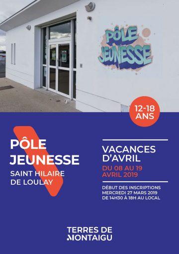 Visuel : couverture - Programme Vacances de Printemps 2019 - Pôle Jeunesse - Montaigu-Vendée - Terres de Montaigu