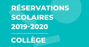 Illustration : Réservations scolaires 2019-2020 - Collège - Terres de Montaigu