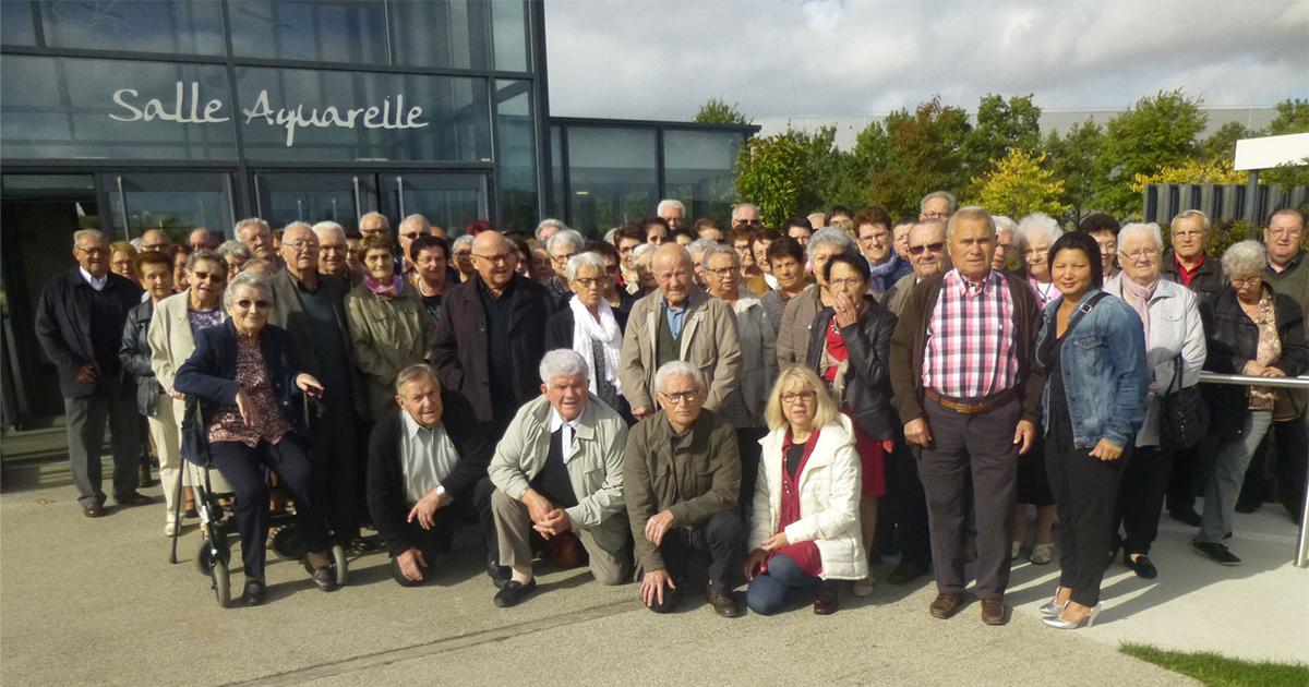 Photo de groupe du Club Sourire d'Automne de L'Herbergement