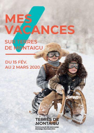 Image : Couverture - Mes Vacances sur Terres de Montaigu - Hiver 2020
