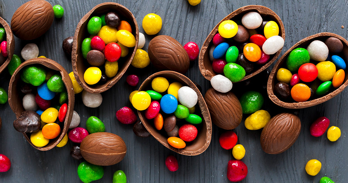 Illustration : oeufs de Pâques en chocolat