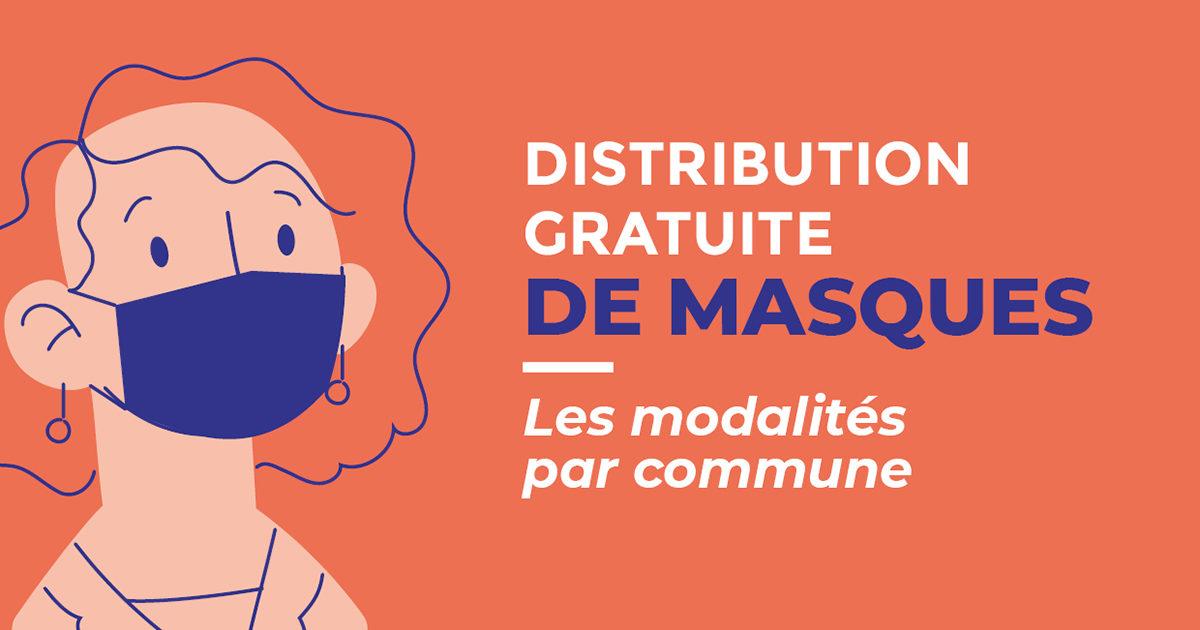 Distribution de masques : les modalités par commune
