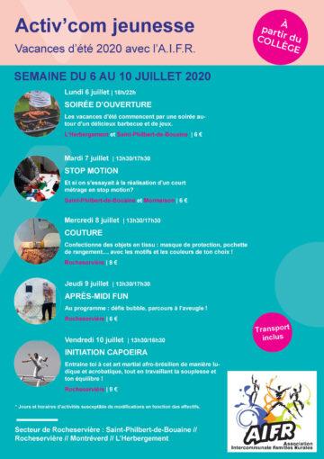 Image : couverture - Activ'com Jeunesse - Rocheservière - Terres de Montaigu