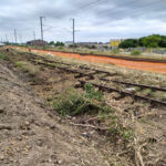 Photo : travaux ferroviaires menés par SNCF Réseau