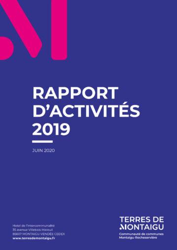 Couverture rapport d'activités 2019 - Terres de Montaigu