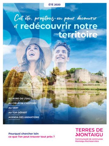 Image : couverture du magazine tourisme - Été 2020 - Terres de Montaigu