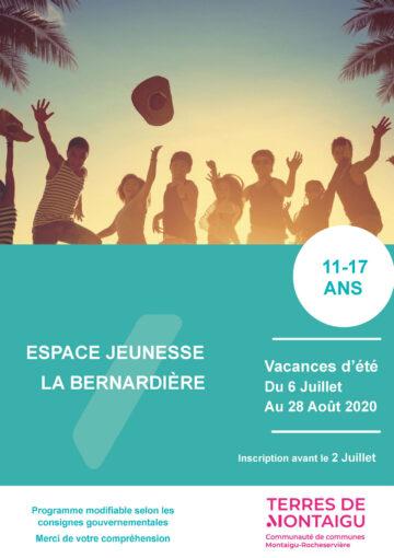 Image : Couverture - Programme jeunesse Été 2020 - Espace Jeunesse de La Bernardière