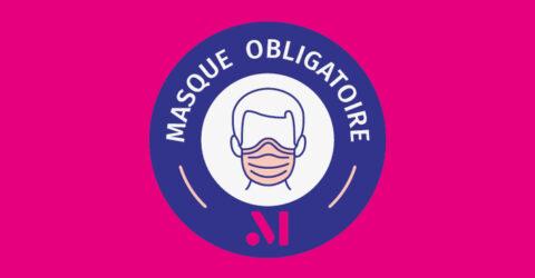 Infographie : signalétique masque obligatoire - Terres de Montaigu
