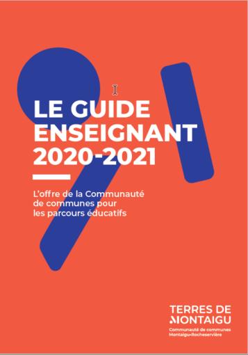 image : couverture du guide de l'enseignant 2020 - 2021 - Terres de Montaigu