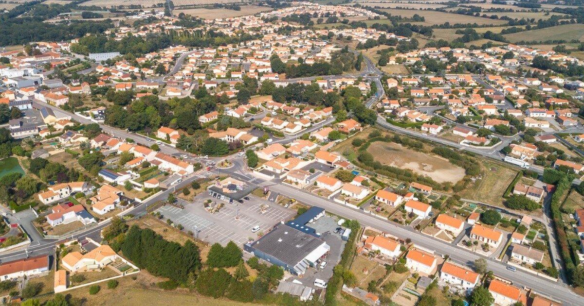 Illustration : vue aérienne treize septiers - Terres de Montaigu 2020