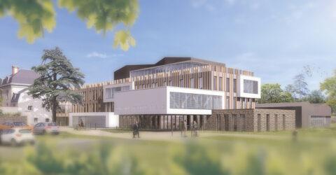 Vue du projet d'extension de l'hôtel intercommunal - Archi Urba Déco