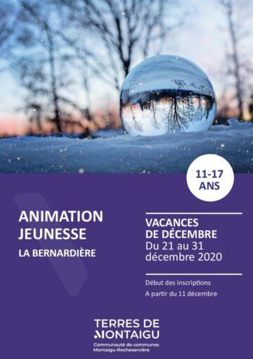 Couverture du programme des vacances de Noël 2020 La Bernardière 0 Animation jeunesse La Bernarière
