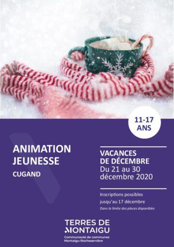 Couverture du programme des vacances de Noël 2020