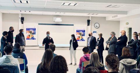 Photo : visite de Sarah El Haïry au Lycée Léonard de Vinci, Montaigu-Vendée