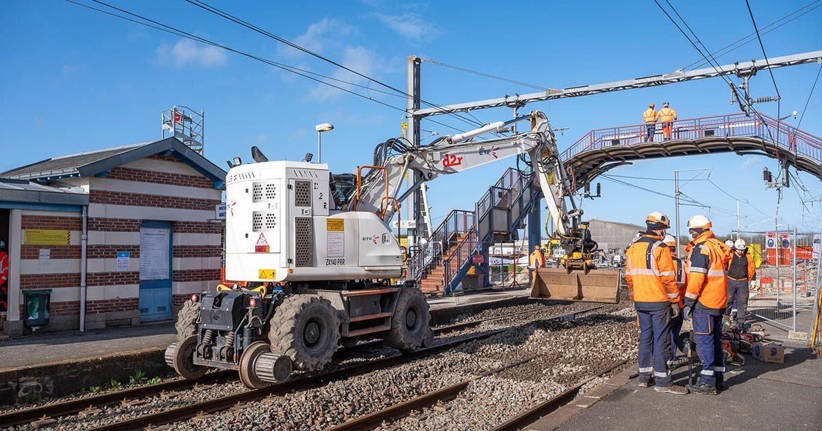 Photo : 2021 opération d'envergure pour la gare - Terres de Montaigu