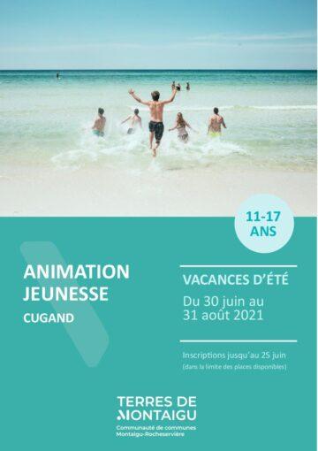Couverture du programme des vacances d'été 2021 - Cugand