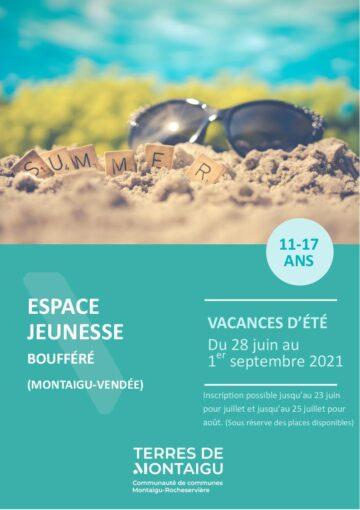 Couverture du programme des vacances d'été 2021 - Boufféré - Montaigu-Vendée