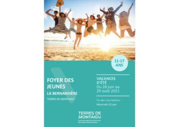 Couverture du programme des vacances d'été 2021 - La Bernardière