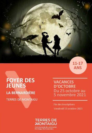 Couverture du programme des vacances d'octobre 2021 - La Bernardière
